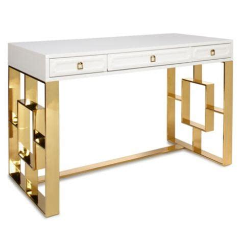 gold and white writing desk white glass antique gold frame desk
