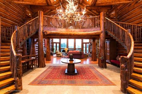 beautiful log home interiors stunning log cabin in teton county wyoming home design