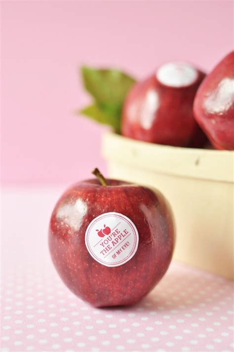 Apple Way you re the apple of my eye these food safe stickers are the way to dress up your