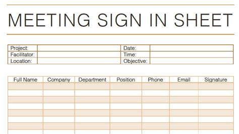 Meeting Sign In Sheets Ideas Meeting Sign In Sheet Exles Toreto Co