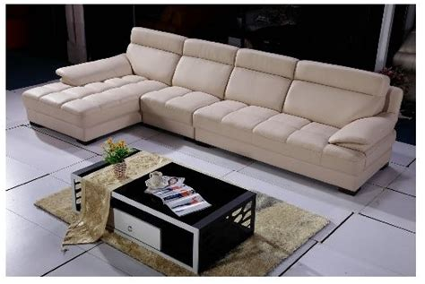 free shipping u shaped 2 color leather sofa high quality sectional sofa with chaise leather sectional l shaped