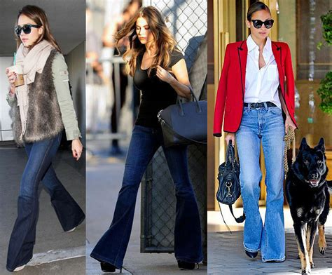 celebrity flare jeans trend report fitting flares tiffany pinero style