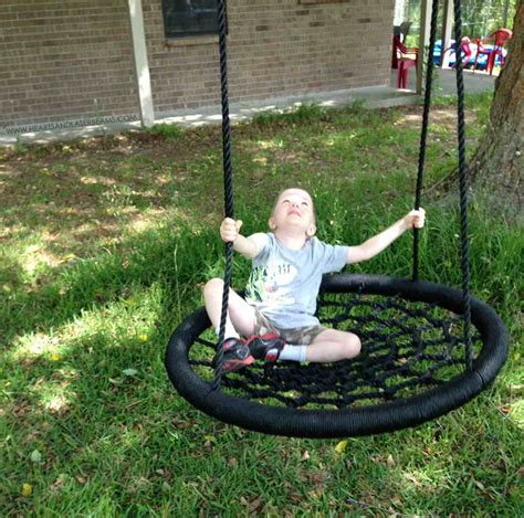 diy rope swing fun diy swings that all kids would like to have in their yard