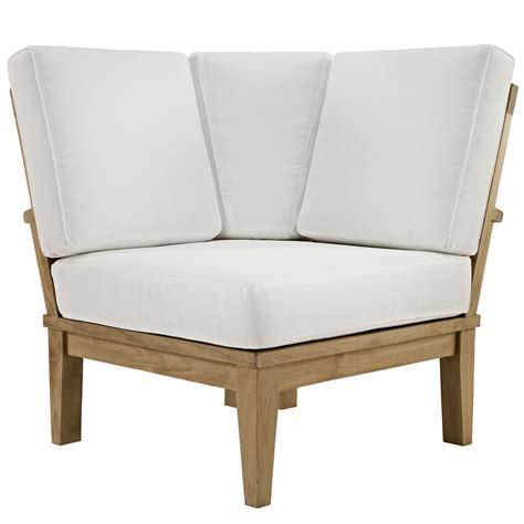wood outdoor sofa marina natural teak wood outdoor patio sofa w upholstered