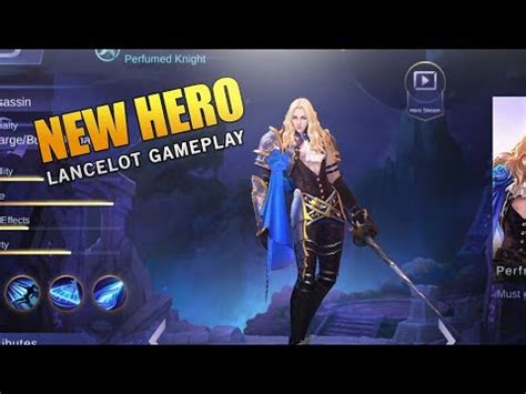 tutorial lancelot mobile legend mobile legends new hero lancelot gameplay youtube