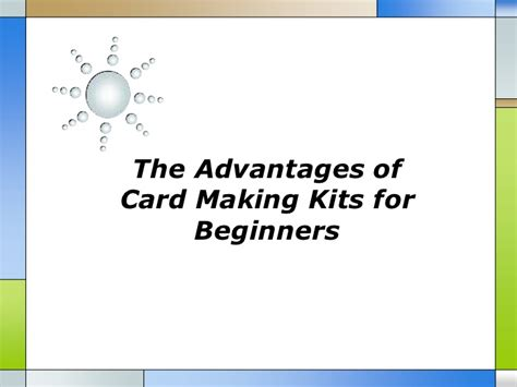 card kits for beginners the advantages of card kits for beginners