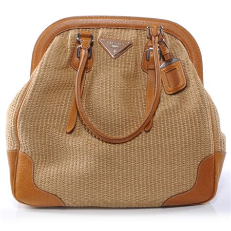 Prada Juta Laminata And Cinghiale Frame Bag by Prada Paglia Cinghiale Leather Frame Bag Naturale 38941