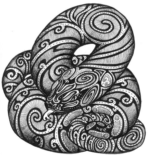 coloriage adulte art aborigene serpent 8