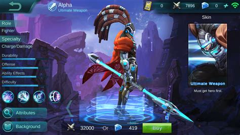 mobile alpha alpha ultimate weapon review mobile legends