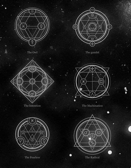 Alchemical Vectors.   Sacred Geometry   Magic symbols