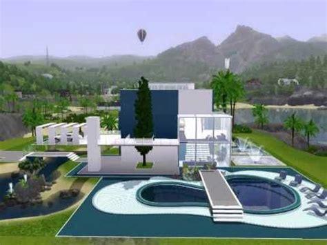 the sims 3 modern house design modern beach house the sims 3 youtube