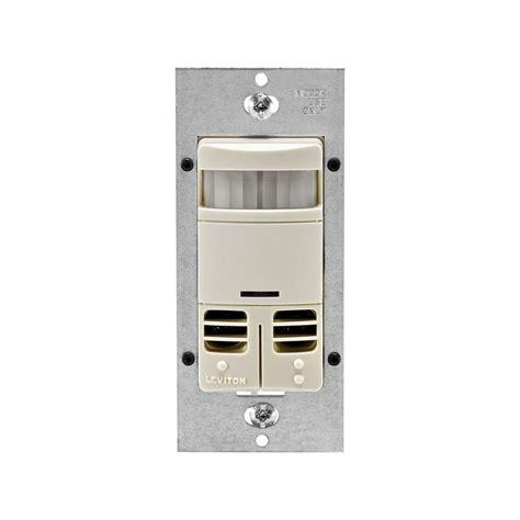 leviton motion sensor light switch leviton decora dual relay multi technology occupancy