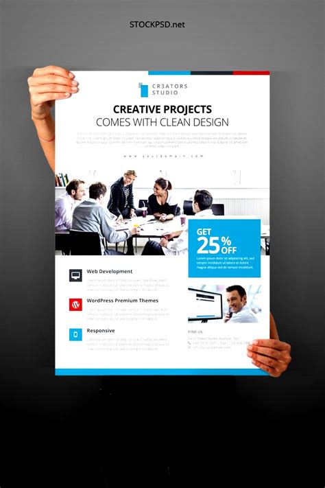 free psd business flyer templates download besttemplates123