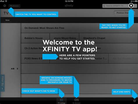 xfinity tv app android cable box cable and boxes on