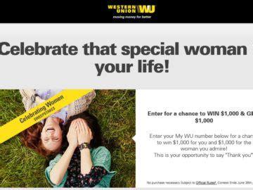 Western Union Sweepstakes - the western union my wu celebrating women sweepstakes
