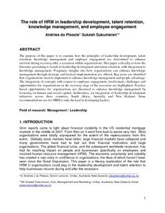 talent management research papers pdf the of hrm in leadership development talent