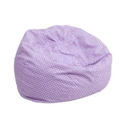 small lavender dot kids bean bag chair dg bean small dot pur gg by flash furniture bizchair com