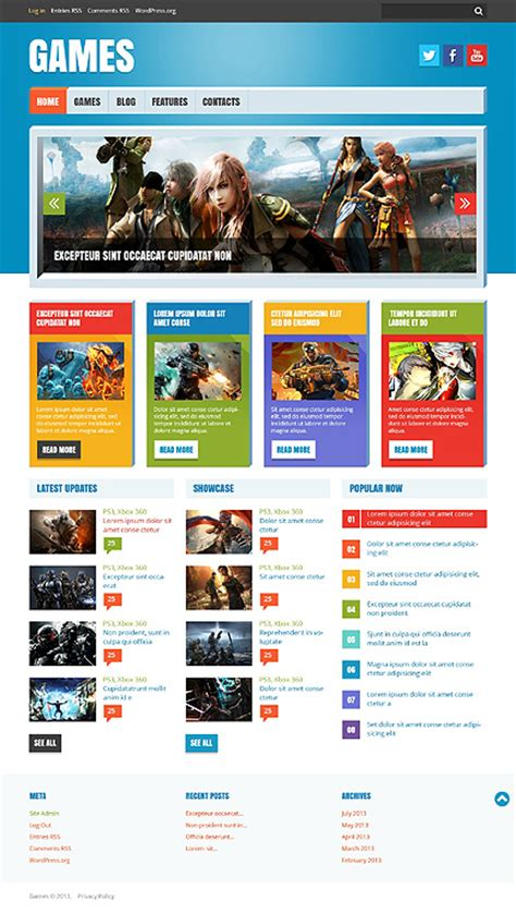 themes in games top 10 wordpress themes for a video game website
