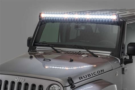 Led Light Bars For Cars Quadratec J5 Led Light Bar Kit With 6 Bolt Windshield Mounting Brackets For 07 18 Jeep Wrangler