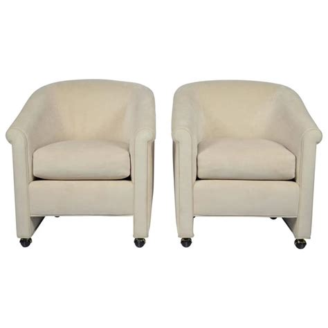 Chairs On Casters by Set Of Two A Rudin Chairs On Casters At 1stdibs