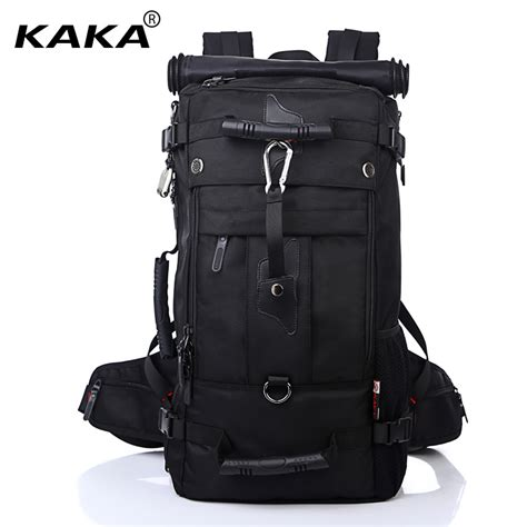 Bangkit Black Travel Bag kaka backpack travel bag large capacity versatile utility mountaineering multifunctional