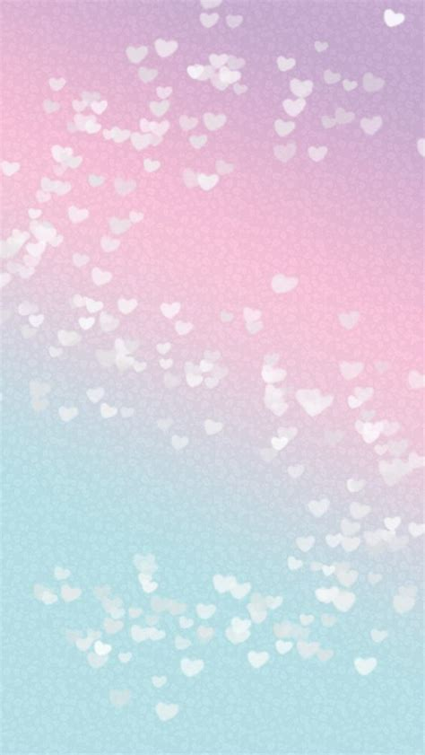 wallpaper iphone pink pastel pastel pink blue ombre mini hearts phone iphone wallpaper