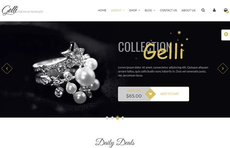 drupal themes jewelry jewelry websites online style guru fashion glitz