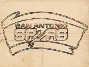 Spurs Duvet Cover San Antonio Spurs Logo Vintage Painting By Florian Rodarte