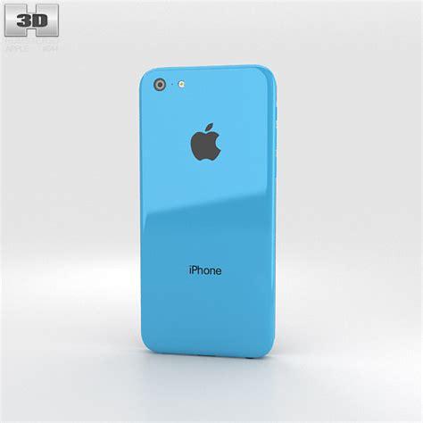 apple iphone 5c blue 3d model hum3d