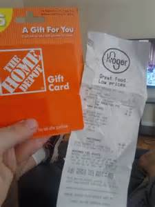 home depot mycard gift cards at kroger 200 kroger fuel points for my home