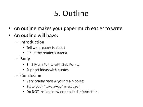 how do you write an outline for a research paper writing a paper outline the oscillation band