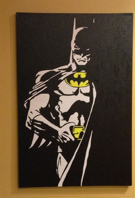 painting batman batman pop 2ftx3ft painted by brownstudios on
