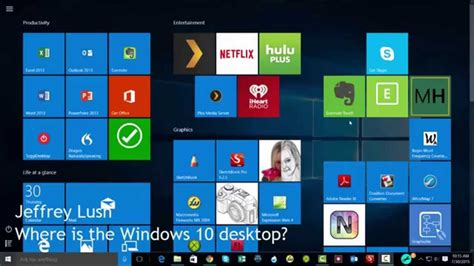 how to get a desk getting to desktop in windows 10 screen