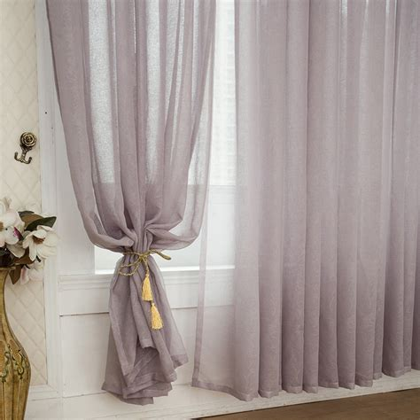 colored burlap curtains elegant grey color solid burlap sheer curtains