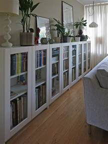billy bookcases with grytn 196 s glass doors ikea hackers