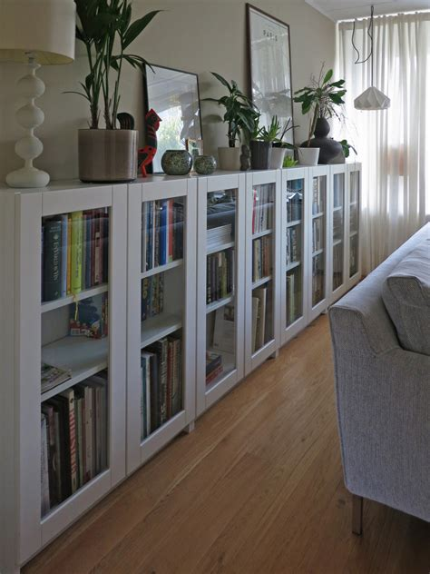 billy bookcase doors hack we were looking for mid height bookcases with glass doors