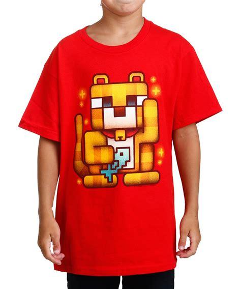 minecraft lucky ocelot t shirt