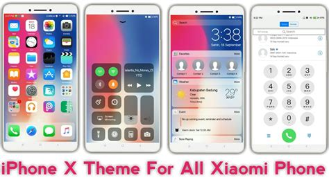 iphone themes for miui v5 iphone x theme for miui 8 miui 9 iphone x theme for