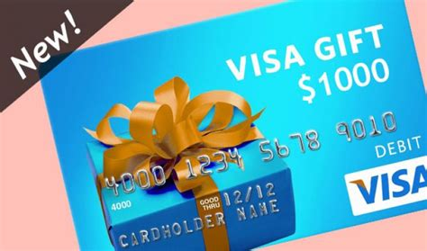 Prepaid Visa Gift Card Balance - 1 000 visa gift card balance just for a survey scam or real