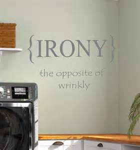 Laundry Room Wall Stickers laundry room irony vinyl wall decal home decor