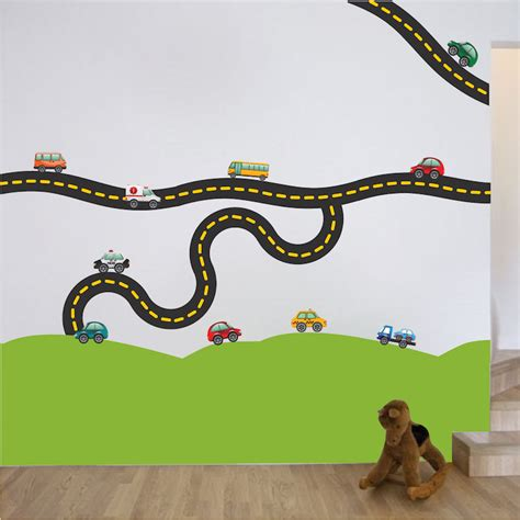 Wall Sticker Cars Track Xy1160 race car decal sports wall decal murals race track wall stickers primedecals