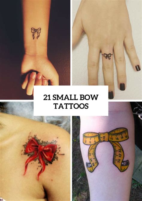 21 small bow tattoo ideas to repeat styleoholic