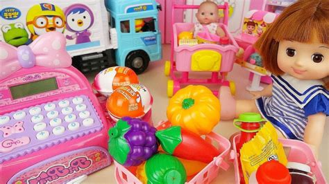 doll mart baby doll mart register and delivery truck car toys