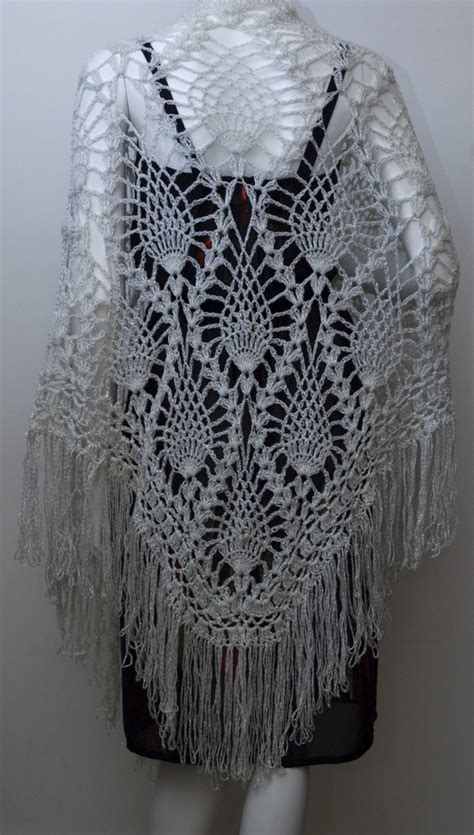 knitting pattern sler scarf vintage silver pineapple crochet shawl all things