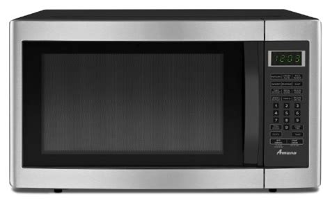 Best Buy Countertop Microwaves by Amana 1 6 Cu Ft Countertop Microwave Oven Amc2166as Stainless Best Buy Amana 1 6 Cu Ft