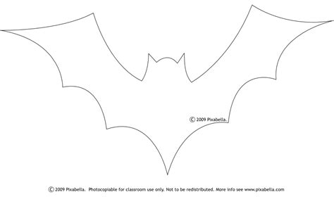 7 best images of halloween bat stencil cutouts printable