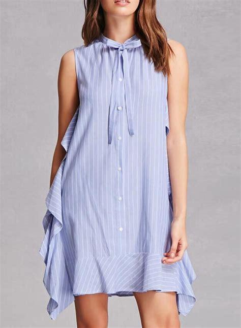 Sleeveless Ruffles Dress s fashion sleeveless striped ruffles dress