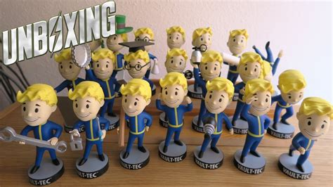fallout 4 bobbleheads fallout 4 vault boy bobbleheads unboxing vgvids