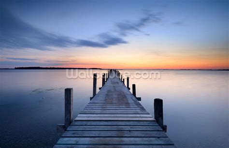 wooden wall murals wooden jetty wallpaper wall mural wallsauce usa
