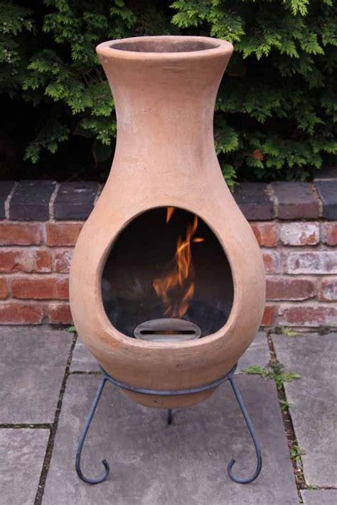 terracotta clay chimenea chiminea patio heater pit